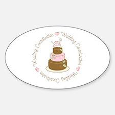 Sweet Wedding Coordinator Cake Oval Decal