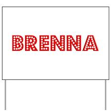 Retro Brenna (Red) Yard Sign