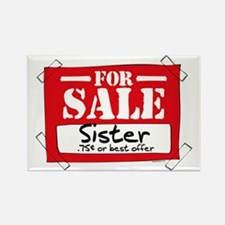 Sister For Sale Rectangle Magnet