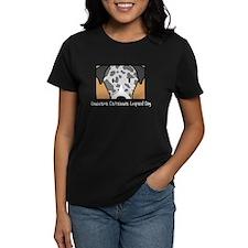 Anime Catahoula Leopard Dog Women's Black TShirt
