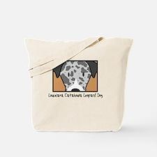 Anime Catahoula Leopard Dog Tote Bag