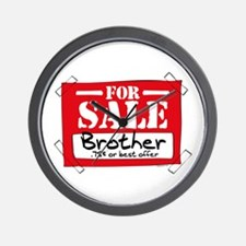 Brother For Sale Wall Clock