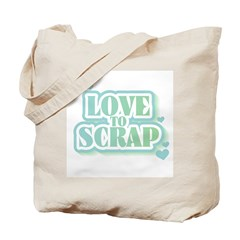 Love To Scrap Tote Bag