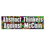 Abstract Thinkers Against McCain sticker