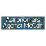 Astronomers Against McCain bumper sticker