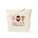 Peace Love Neurology Tote Bag