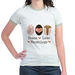 Peace Love Neurology Jr. Ringer T-Shirt