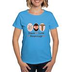Peace Love Neurology Women's Dark T-Shirt