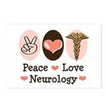 Peace Love Neurology Postcards (Package of 8)