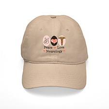 Peace Love Neurology Baseball Cap
