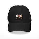 Peace Love Neurology Black Cap