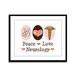 Peace Love Neurology Framed Panel Print