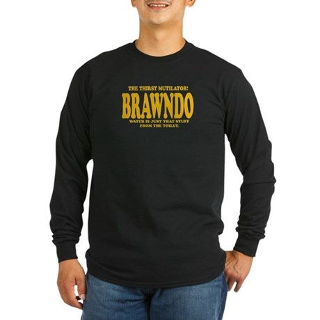 Brawndo Long Sleeve Dark T-Shirt