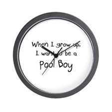 When I grow up I want to be a Pool Boy Wall Clock