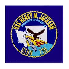USS Henry M Jackson SSBN-730 Tile Coaster