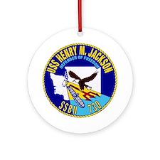USS Henry M Jackson SSBN-730 Ornament (Round)