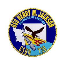 "USS Henry M Jackson SSBN-730 3.5"" Button (100 pack"