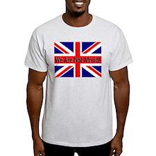 We Are Not Afraid Ash Grey T-Shirt
