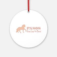 Paso Fino Horse Ornament (Round)
