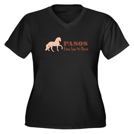 Paso Fino Horse Women's Plus Size V-Neck Dark T-Sh