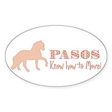Paso Fino Horse Oval Decal