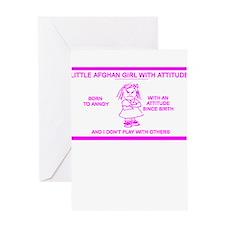 LITTLE AFGHAN GIRL Greeting Card