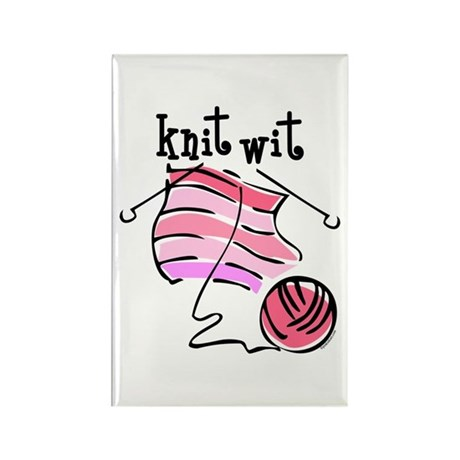 Knit Wit Rectangle Magnet