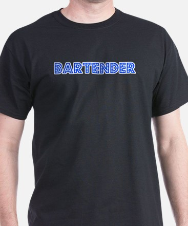 Retro Bartender (Blue) T-Shirt