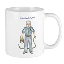 Wanna play with my hose? Dirty old man Mug