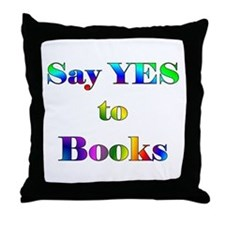 Yes to Books Throw Pillow