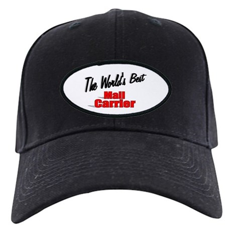 """The World's Best Mail Carrier"" Black Cap"