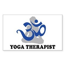Yoga Therapist Rectangle Decal