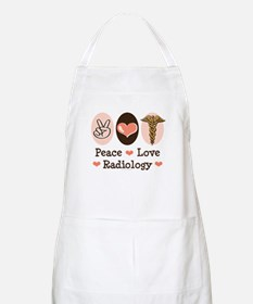 Peace Love Radiology BBQ Apron