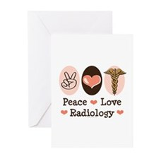 Peace Love Radiology Greeting Cards (Pk of 20)