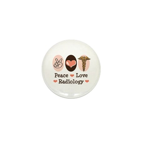Peace Love Radiology Mini Button (100 pack)