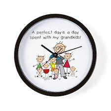 Grandpa Stick Figure Wall Clock