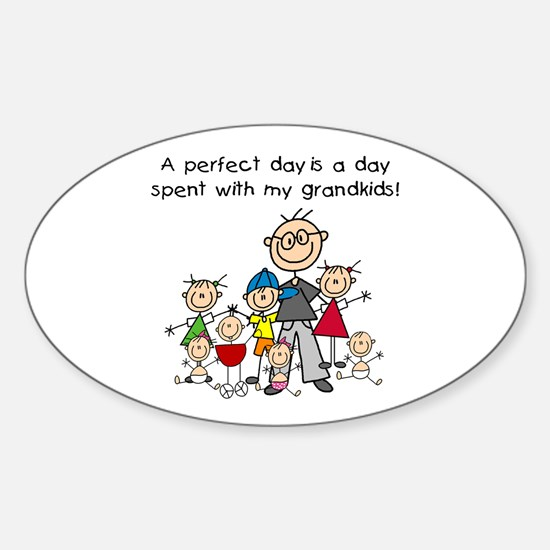 Grandpa Stick Figure Oval Decal
