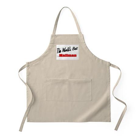 """The World's Best Mailman"" BBQ Apron"