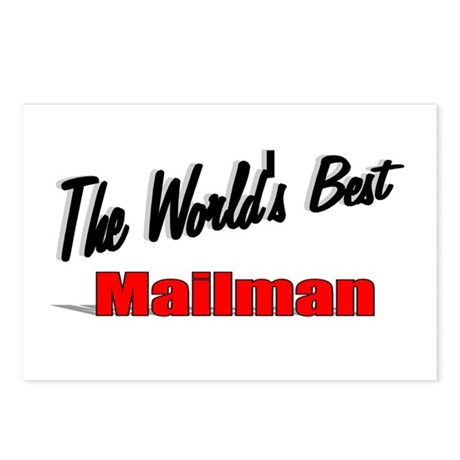 """""""The World's Best Mailman"""" Postcards (Package of 8"""