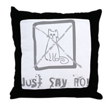 No Cats Allowed Throw Pillow