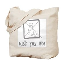 No Cats Allowed Tote Bag
