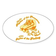 The Rhythm of the Movement Oval Decal