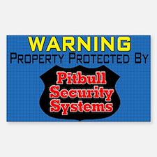 Fake Security Decal, Rectangle Decal