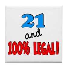 21 and 100% legal Tile Coaster