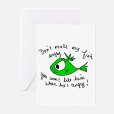 Angry Fish Greeting Cards (Pk of 10)