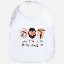 Peace Love Urology Bib