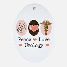 Peace Love Urology Oval Ornament