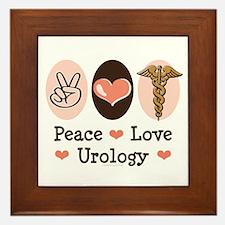 Peace Love Urology Framed Tile