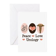 Peace Love Urology Greeting Cards (Pk of 10)
