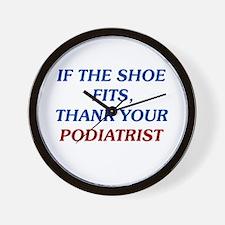 Thank Your Podiatrist Wall Clock